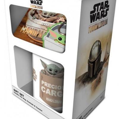 Star wars the child gift set mug sous verre porte cles