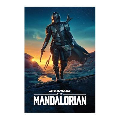 Star wars the mandalorian nightfall poster 61x91cm