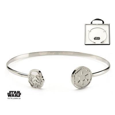 Star wars women s stainless steel stormtrooper cuff bangle bracelet