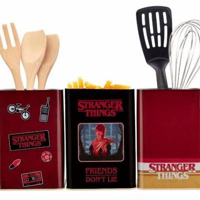 Stranger things 3 tins set retro logo