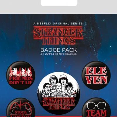 Stranger things characters pack de 5 badges