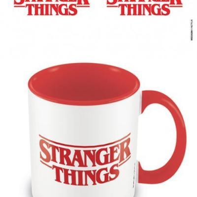 Stranger things logo mug interieur colore 315ml