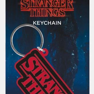 Stranger things logo porte cles en caoutchouc