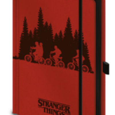 Stranger things notebook a5 premium upside down
