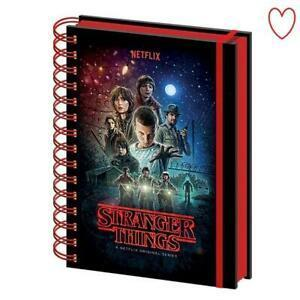 Stranger things one sheet notebook a5