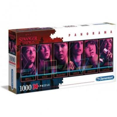 Stranger things panorama characters puzzle 1000p