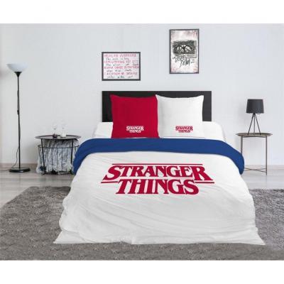 Stranger things parure de lit 240x220cm logo 100 coton