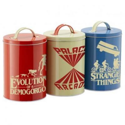 Stranger things silhouette set de 3 boites de rangement