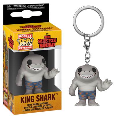 Suicide squad pocket pop keychains king shark