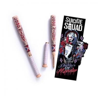 Suicide squad stylo batte de baseball harley quinn marque pages