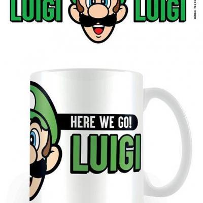Super mario here we go luigi mug 315ml