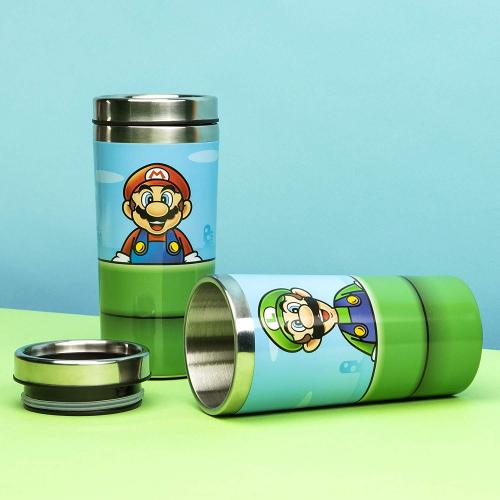 Super mario warp pipe gourde de voyage en metal 450ml