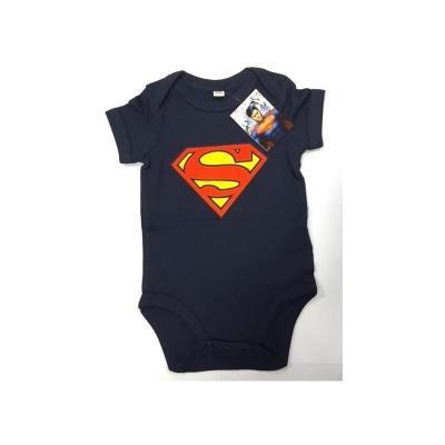 Superman baby body logo navy 6 month