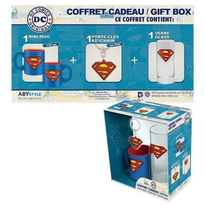 Superman coffret cadeau verre porte cles mini mug 1