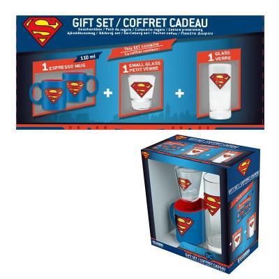 Superman coffret cadeau verre shooter mini mug
