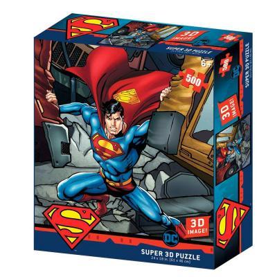 Superman super strength puzzle lenticulaire 3d 500p 61x46cm