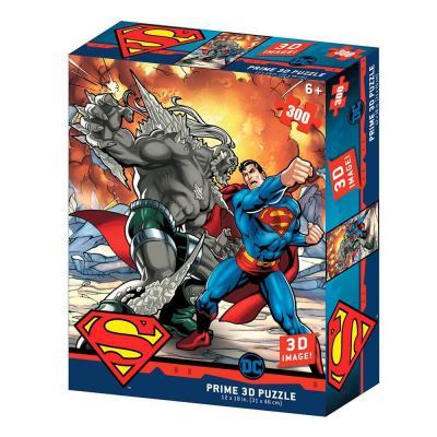 Superman vs doomdsday puzzle lenticulaire 3d 300p 46x31cm