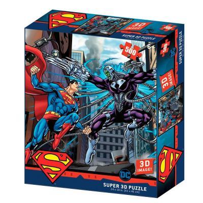 Superman vs electro puzzle lenticulaire 3d 500p 61x46cm