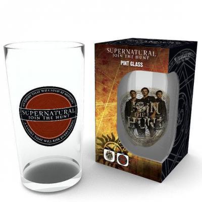 Supernatural large glasses 500ml logo