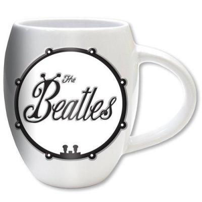 The beatles oval embossed mug 450 ml black bug logo
