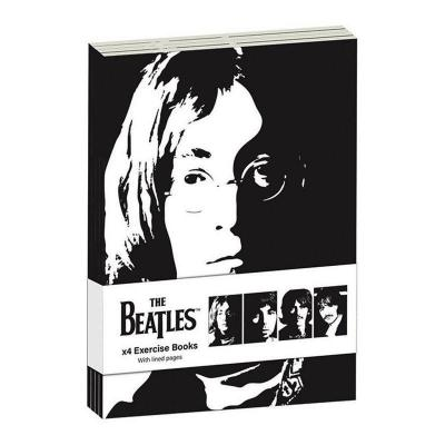 The beatles pack 4 x exercise books a6 revolver
