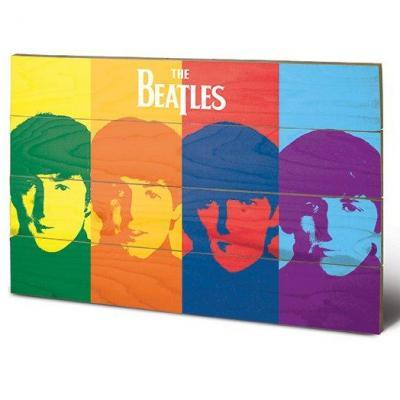 The beatles pop art impression sur bois 40x59cm