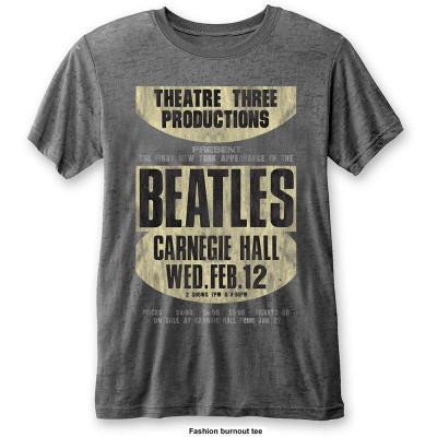 The beatles t shirt burnout col carnegie hall men