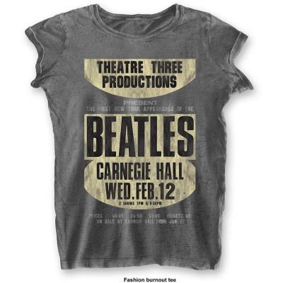The beatles t shirt burnout col carnegie hall woman