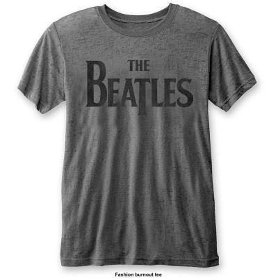 The beatles t shirt burnout col drop t logo men