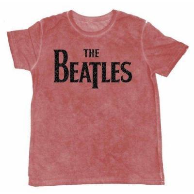 The beatles t shirt burnout col logo red men