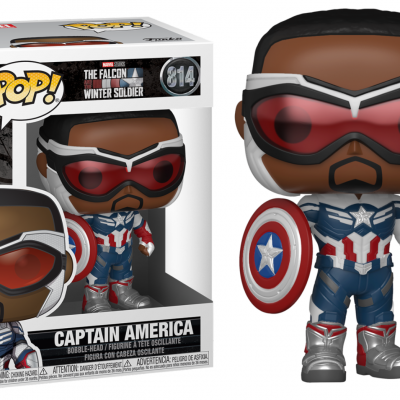 The falcon soldier bobble head pop n 814 captain america