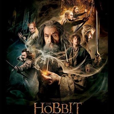The hobbit impression encadree 30x40cm