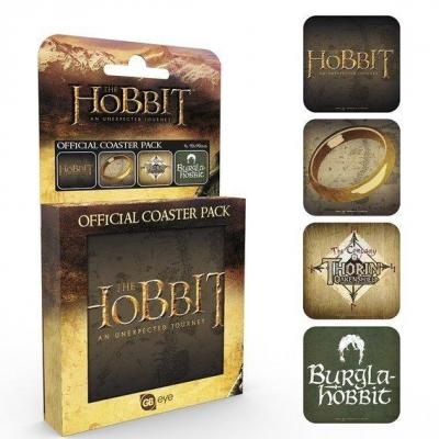 The hobbit pack de 4 dessous de verre mix