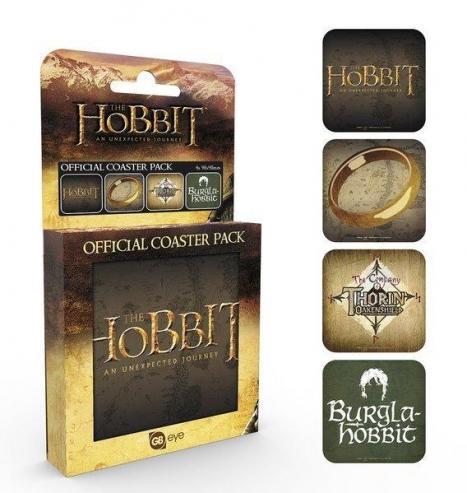 The hobbit pack de 4 dessous de verre mix