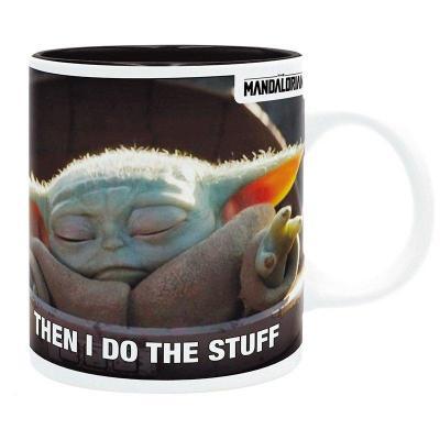 The mandalorian baby yoda meme mug 320ml