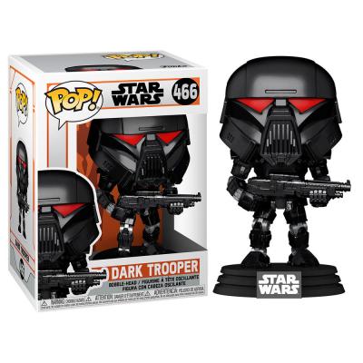 The mandalorian bobble head pop n 466 dark trooper battle