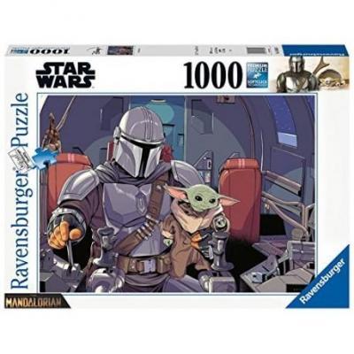 The mandalorian cartoon puzzle 1000p