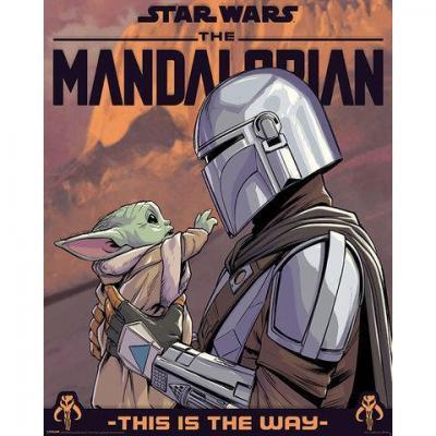 The mandalorian hello little one mini poster 40x50cm 1