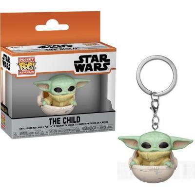 The mandalorian pocket pop keychains the child in pod 4cm