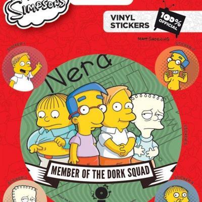 The simpsons vinyl stickers dork squad
