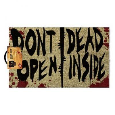 The walking dead paillasson 40x60 dont open dead inside