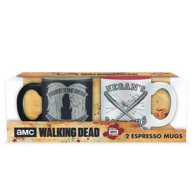 The walking dead set 2 mini mugs daryl vs negan