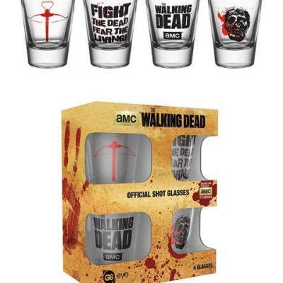 The walking dead shot glass symbols