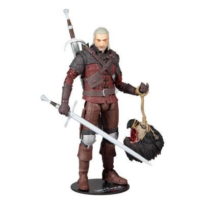 The witcher 3 geralt of rivia wolf armor figurine articulee 18cm