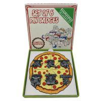 Tmnt pizza set de 6 pin s edition limitee 13x1x13cm 1