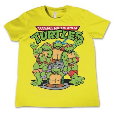 Tmnt t shirt kids tmnt group yellow