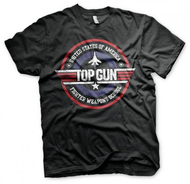 Top gun fighter weapons school t shirt