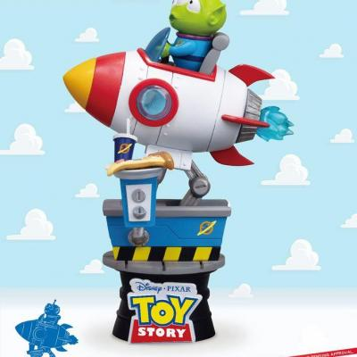 Toy story alien coin ride diorama 15cm