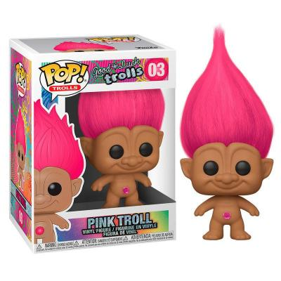 Trolls bobble head pop n 03 pink troll
