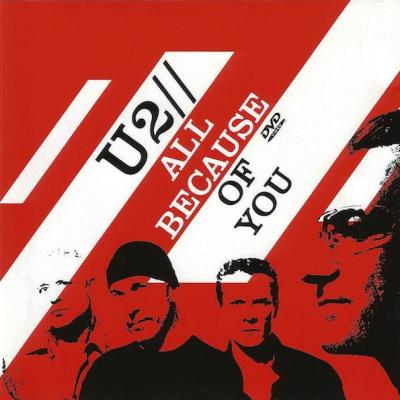 U2 maxi cd all because of you audio dvd